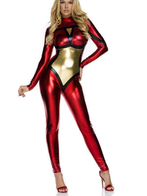 551275554727a Detail Feedback Questions about The Spiderwoman Costume Shiny Metallic  Cosplay Zentai Catsuit Custom Halloween Female/Women/Girls/Lady Bodysuit  Free ...