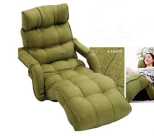 Floor Folding Sofa Chair 5 Color Adjustable Recliner