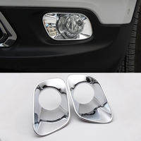 2016 Car Styling 2 Pcs Set ABS Trim Protection Accessories Front Fog Lamp Daytime Running Light