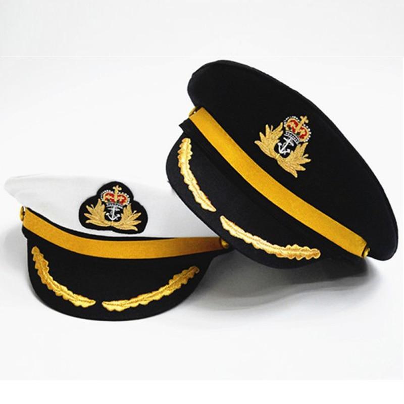 Chapeau Casquette Capitaine Hommes Femmes Adulte Broderie Marine Marin Caps