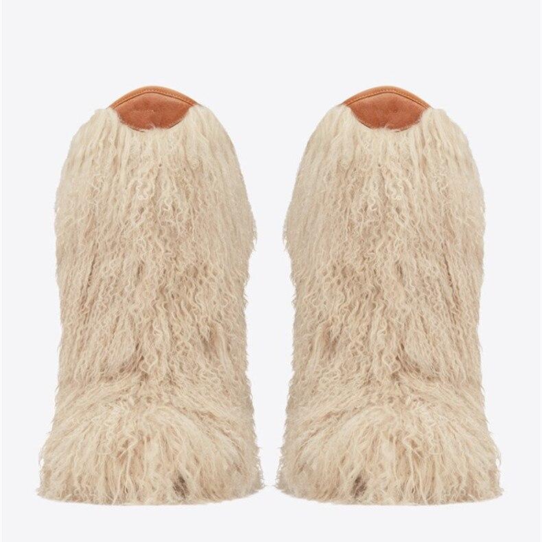 Botas Invierno Avestruz De Color Alta Las Espectáculo Zapatos Mujeres Peludo Piel Plumas Calidad black Apricot Nieve T Cuero gw50xEPq0