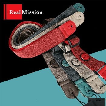 Rm Real Mission Guitar Strap, 7 Colors Available. Also fit Electric Guitar or Bass Guitar newest arrival china oem satin cherry finish lpj electric guitar left handed guitar custom available