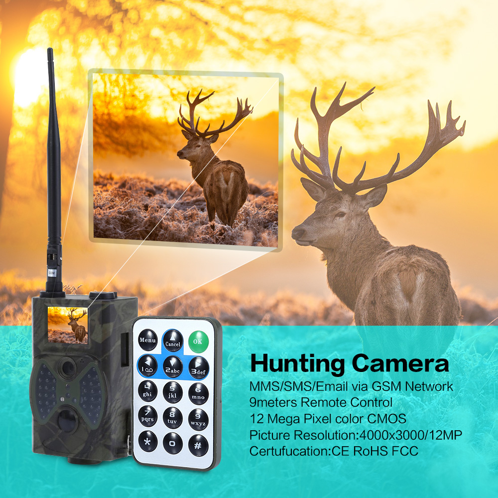 HC300M 940NM Infrared Night Vision font b Camera b font 2G MMS GPRS GSM 12M Digital