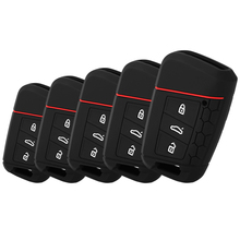 1Pc Car Remote Silicone Key Case For VW TIGUAN MK2 Passat B8 For Skoda Superb A7 Kodiaq Key Cover Key Fob Pocket Shell Skin