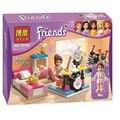 BELA 10132 original assemblage building blocks 85pcs friends for girl series house city bricks gift Compatible 10132