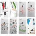 Enfermera Médico Medicina Salud Corazón Cubierta Suave Del Teléfono de Tpu Fundas Coque para iphone 7 7 plus 6 6 s 6 más 5 5S sí 5c 4 4S