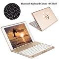 Para ipad pro 9.7 7 colores de luz retroiluminada teclado inalámbrico bluetooth cubierta de la caja para ipad air/air 2 para ipad 5/ipad 6 + regalo