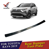 For Toyota Rav4 2019 2020 Stainless Steel Rear Tail Box Gate Door Bumper Sill Threshold Scuff Plate Foot Pedal Trim
