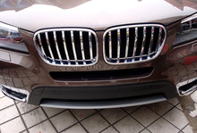 FOR BMW X3 F25 2011 – 2015 ABS Front Center Grille Grill Cover Frame Trim Exterior Mouldings Trim X2