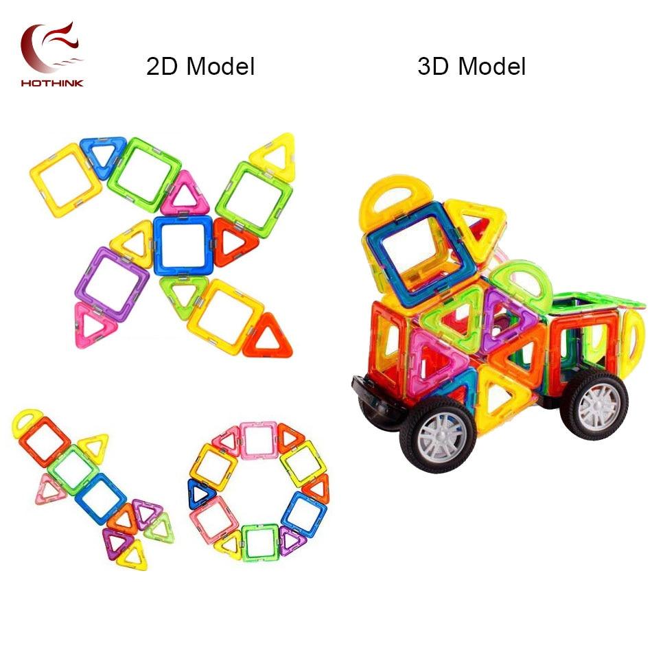 HOTHINK 119pcs big size Magnetic Blocks Designer Construction Set Model & Building Toy Plastic Educational Toys For Kid Gift