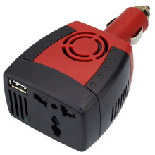 2017 SERIES car inverter power supply 150w DC 12 v - AC 220 v converter transformer laptop mobile phone charger universal socket 12 v dedicated inverter dc 12 v to ac 220 v voltage transformer power converter with dual usb car charger adapter