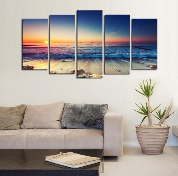 Meer sonnenaufgang, high definition, micro spray, ölgemälde, wohnzimmer, schlafzimmer dekoration malerei, ölgemälde druck können