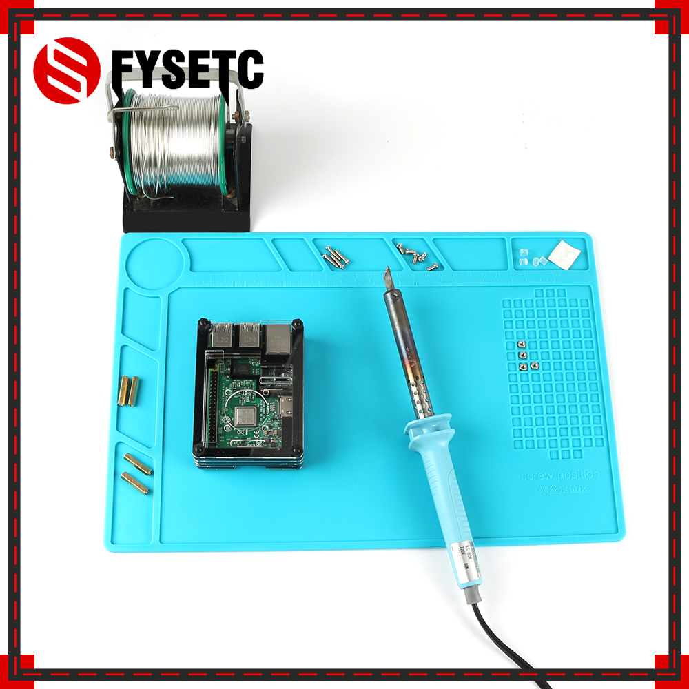 Insulation Pad Anti static Soldering Repair Station Silicon Soldering Mat Work Desk Platform For BGA Electronic Developed Board Demo Board Accessories     - title=