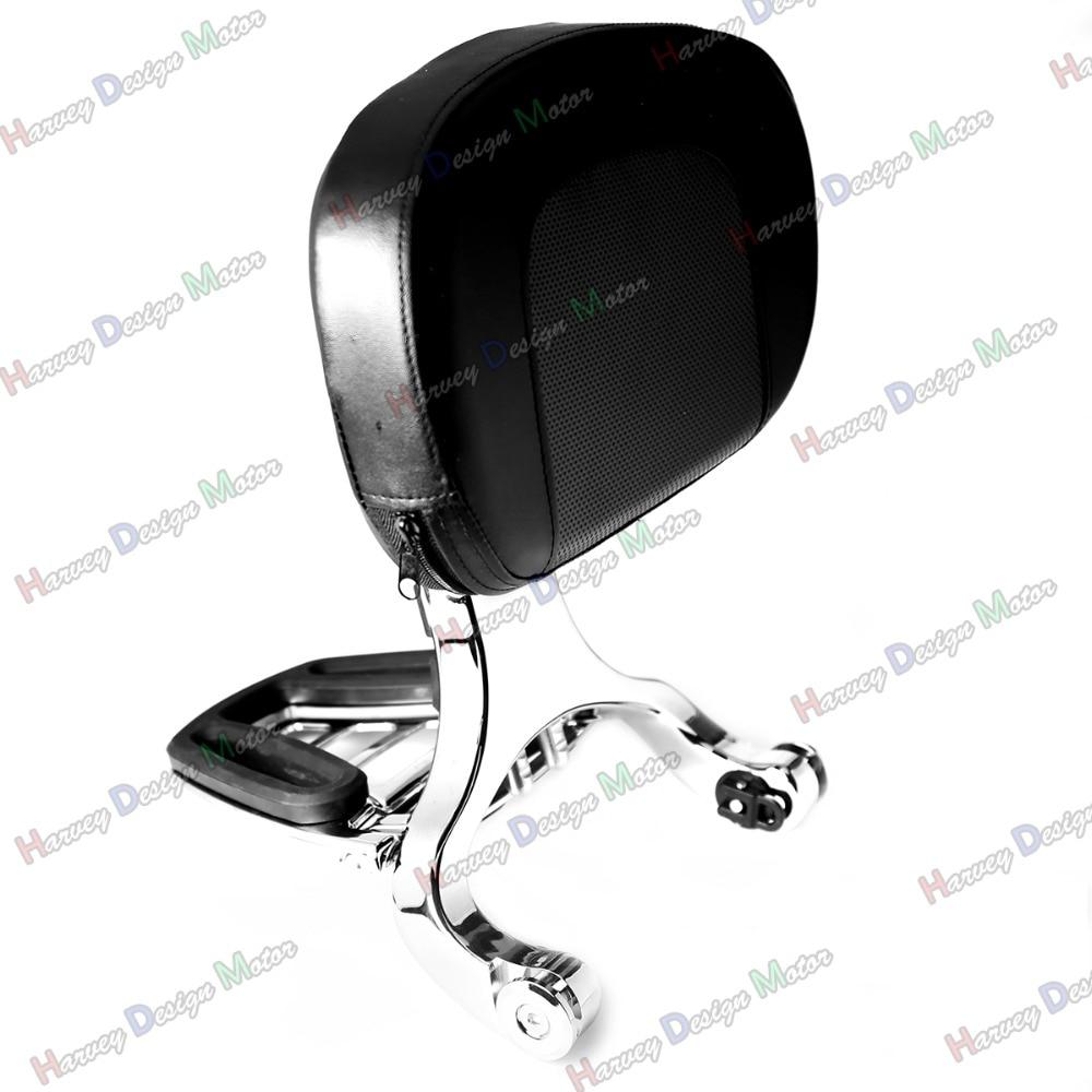 Multi Purpose Adjustable Driver & Passenger Backrest For Harley Touring Street Glide Road King Cross-Country