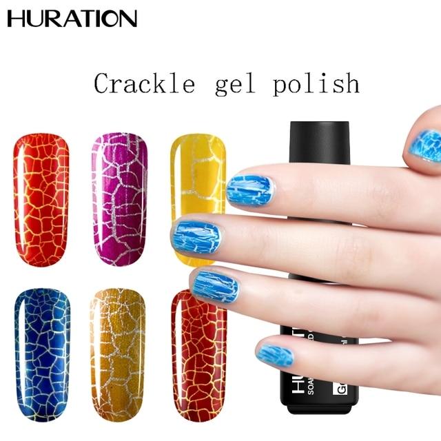 Huration Gel Lucky Nail Polish Crackle UV Gel Nail Polish Semi ...