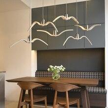 Nordic lampada a sospensione Gabbiano Disegno Lampadari Led Per Bar/Cucina Birds Lampadario A Soffitto Corpo Illuminante Luce Apparecchio