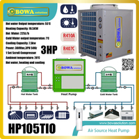 3P 3 in 1 heat pump unit integrates heating, water chiller and heater functions to take care of all your home comfort needs