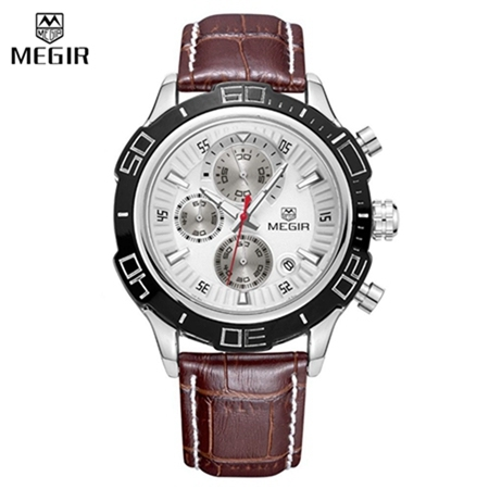MEGIR Mens Watches Top Brand Luxury Men Watch Quartz Chronograph Fashion Business Stainless Steel Men's Wrist Watches Clock | Fotoflaco.net