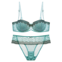 New 2017 Summer Women S Lingerie Half Cup Ultra Thin Lace Sexy Bras Ladies Bra Sets
