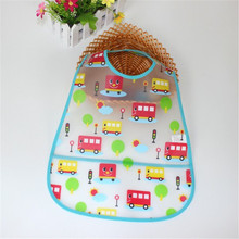 Adjustable Baby Bibs EVA Plastic Waterproof Lunch Feeding Bibs Baby Cartoon Feeding Cloth Children Apron Baby Accessories Stuff