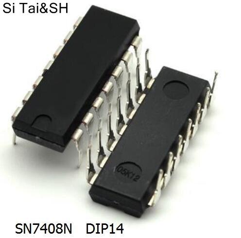 Free shipping 5pcs/lot 7408 SN7408N DIP14 DIP IC new original
