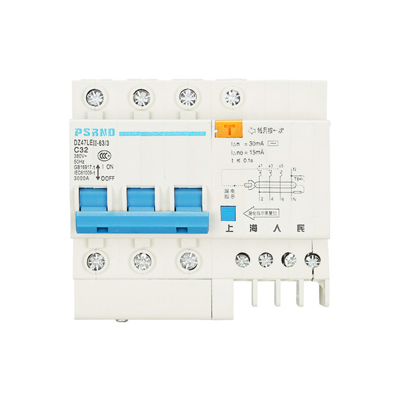 DZ47 230/440V 3P+N Residual current Circuit breaker with over and short current Leakage protection RCBO MCB 63a 3p 3p n rcbo rcd circuit breaker de47le delixi