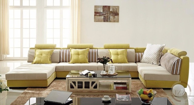 Lizz Hot Sell Furniture Sectional Corner Fabric Sofa .This