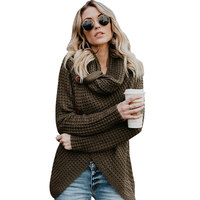 Pullovers Long Sleeve Knitting Long Cardigans Fashion Female Vintage Solid Sweaters Women Wooden Button Turtleneck