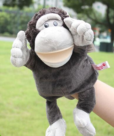 Toy Story 1 unid 30 cm estéreo de dibujos animados gorila orangután mano ventriloquía puppets felpa sueño pacificar regalo infantil educativa