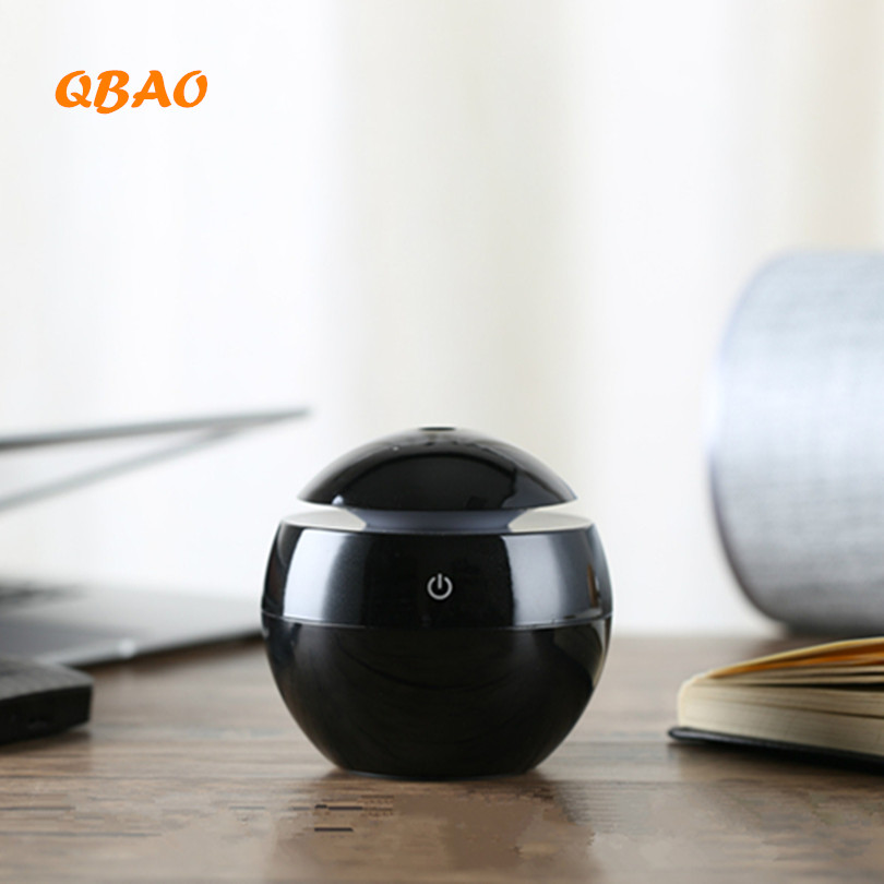 Wood Diffuser Aroma Mini Ultrasonic Humidifier USB 3Color LED Lamp Light Aroma Diffuser Air Purifier Aromatherapy Mist Maker Fog 130ml usb mini wooden ultrasonic aromatherapy humidifier portable mist maker led light dc 5v aroma diffuser air purifier