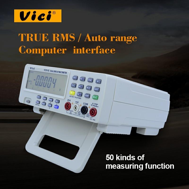 VICI VC8145 Bench Top Digital Multimeter PC Analog 80,000 counts Analog Bar Graph ACV DCV ACA DCA Hz, TEMP RS232 interface