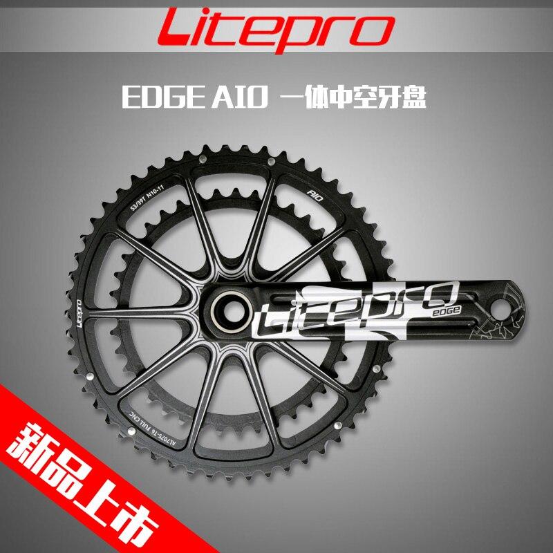 Litepro край AIO полый двойной звезду дороге велосипед шатуны кривошипно 53-39 т 50-34 Т 52-36 Т 170 мм 172,5 мм