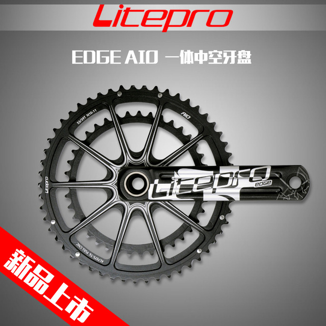 Litepro borde AIO hueco doble plato bicicleta de carretera platos y bielas manivela 53-39 T 50-34 T 52- 36 T 170mm 172,5mm