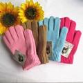 Мода сенсорный экран перчатки зима шерсти трикотажные сгустите теплые перчатки варежки мужчины женщины feminina Guantes luvas luva перчатки женские 8AA620