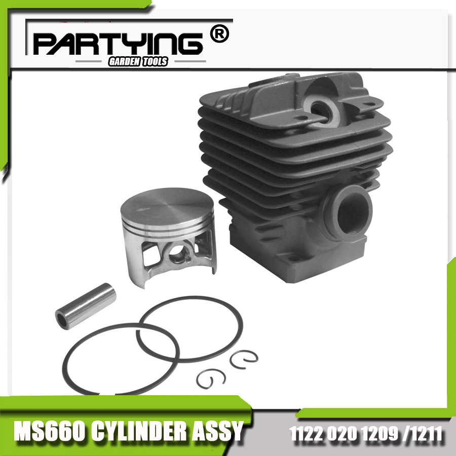 Partying OEM Replacement Parts Cylinder Piston Kit 54mm for MS660 066 (1998 on)- 1122 020 1209 changchai 4l68 engine parts the set of piston piston rings piston pins