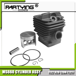 Partying oem replacement parts cylinder piston kit 54mm for ms660 066 1998 on 1122 020 1209.jpg 250x250