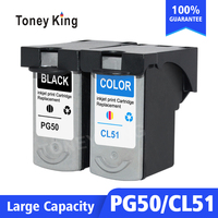 Toney King PG 50 CL 51 PG50 CL51 Ink Cartridges For Canon Pixma iP2200 iP6210D iP6220D MP150 MP160 MP170 MP180 MP450 Printer