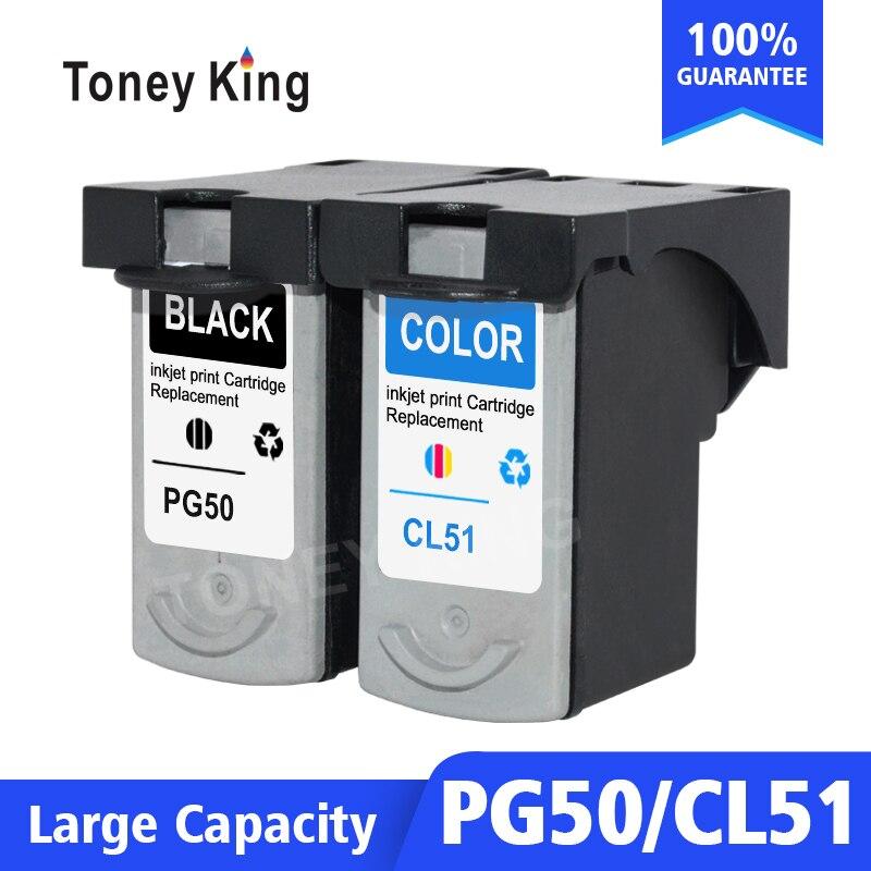 Toney Re PG 50 CL 51 PG50 CL51 Cartucce di Inchiostro Per Canon Pixma iP2200 iP6210D iP6220D MP150 MP160 MP170 MP180 MP450 Stampante