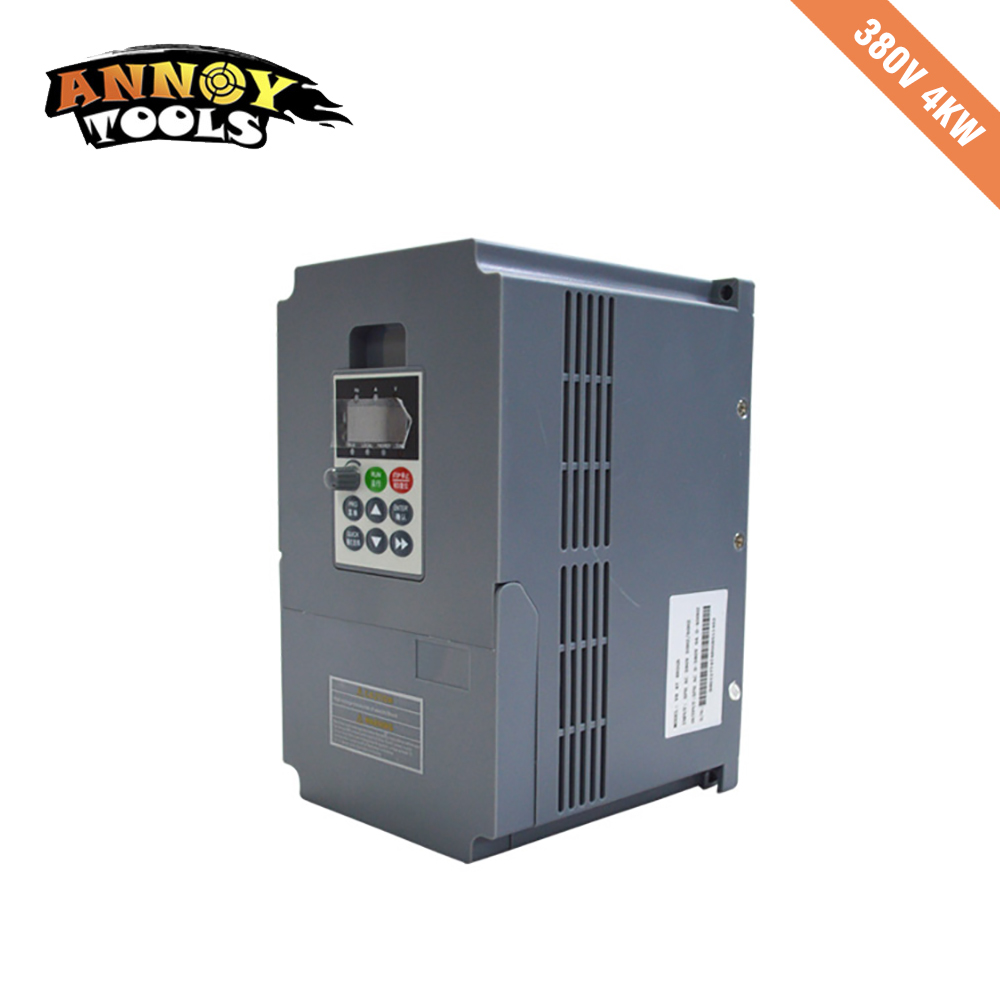 цена на High Quality 380V 4kw 9a Frequency Drive Inverter CNC Driver CNC Spindle motor Speed control,Vector converter