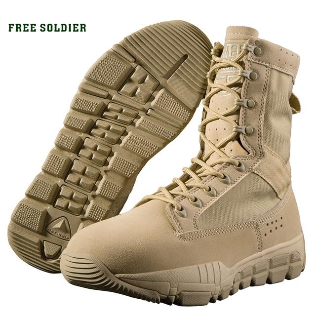 """FREE SOLDIER тактические износостойкие воздухопроницаемые горные ботинки """"Бронетанк"""", со средней высотой берца Локальная доставка"""