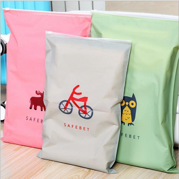 10 Pcs/lot Travel clothing storage bag waterproof sealing bag underwear shoes sorting bags Zip Lock Plastic Bag resealable Bag