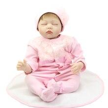 Мода 22 Дюймов Возрождается Младенцы Девушка Куклы Реалистичные Куклы Новорожденных Игрушки Для Детей На День Рождения Рождественский Подарок