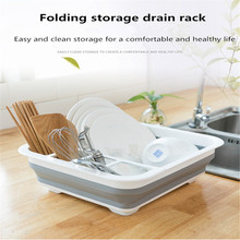 2019 new home storage rack collapsible sink drain basket telescopic dish