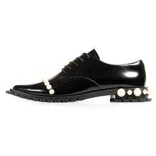 Новые модельные туфли на весну, лето и осень женские тонкие кожаные туфли в британском стиле с острым носком в стиле панк женские туфли