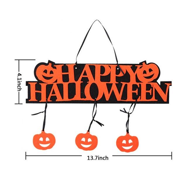 top sale halloween decoration happy halloween hanging hangtag halloween window decoration halloween pumpkin hanging strips