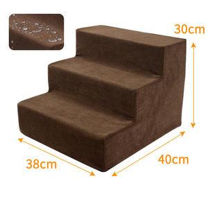 Image 3 - 3 passos cão respirável escadas anti deslizamento gato escada à prova dwaterproof água pet escalada escada cama almofada esteira para cães pequenos filhote de cachorro gato