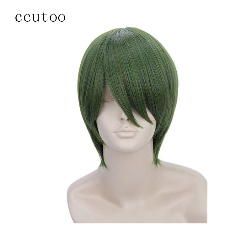 ccutoo Kuroko no Basuke Midorima Shintaro Green Короткие прямые высокотемпературные волокна Косплей Синтетические волосы Парики для вечеринок
