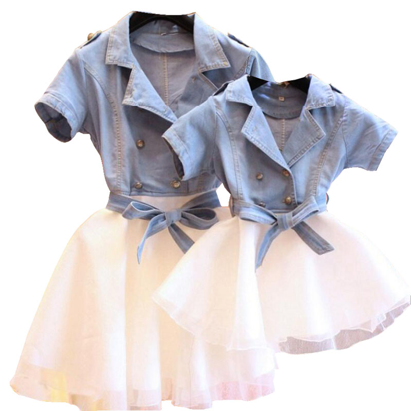 Mother Daughter Dresses Family Matching Outfits Dress For Kids And Women 2019 Summer Family Clothing Mom And Daughter Dress