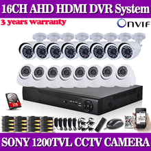 CANDY AHDL 960H DVR 16CH CCTV Security Camera System 1200tvl Outdoor indoor Day Night IR Camera Kit Video Surveillance System