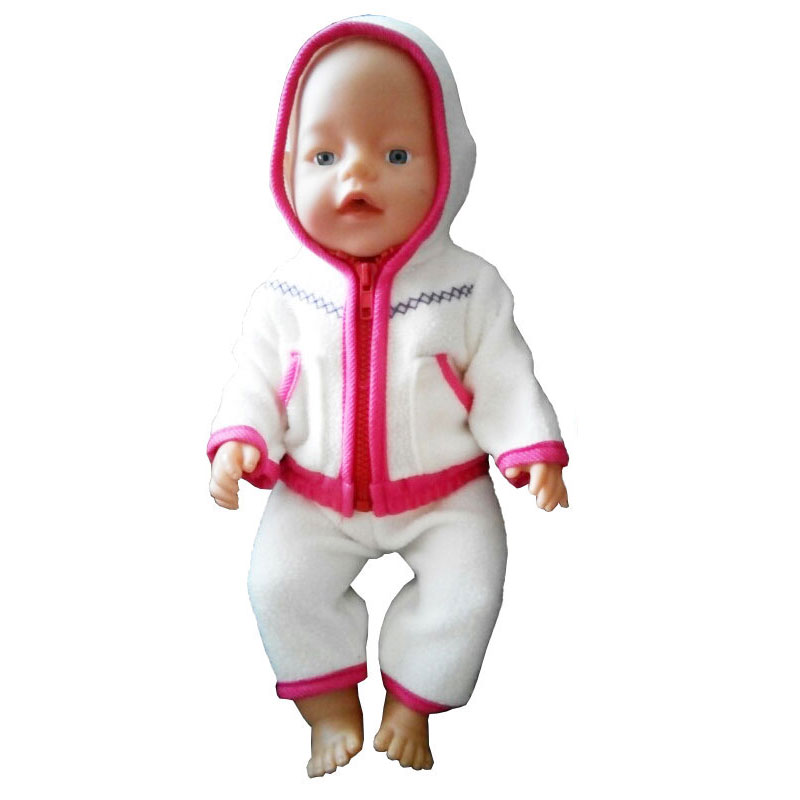 18 Inch American Girl Doll Clothes Fit 43cm Zapf Baby Born Doll Cute  Jackets And Jumpers Rompers For Children Birthday Gifts cadcb4fe865f